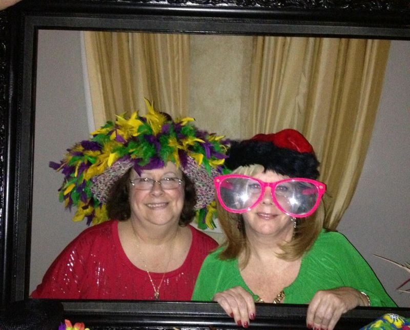 Carol and me being silly at party 2012